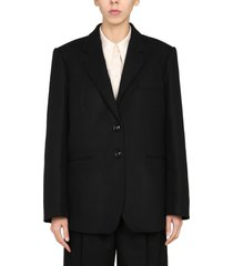 lemaire long single-breasted jacket