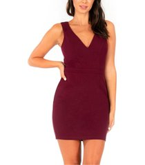 speechless juniors' strappy illusion-back bodycon dress