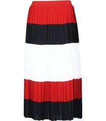 rok tommy hilfiger crepe pleated midi skirt