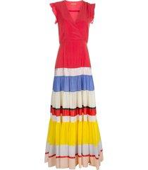 altuzarra panel maxi dress - red