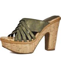 sandalia tahiya verde eda manzini