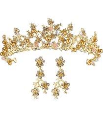 orecchini a fascia per capelli alla moda set per donna orecchini a fascia per capelli in oro per matrimonio