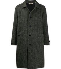 aspesi casaco com abotoamento simples - preto