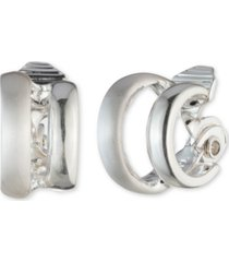 anne klein extra small double hoop clip-on earrings, 0.4""