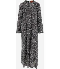 colville designer dresses & jumpsuits, flower printed silk women's long dress