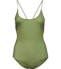 kara body 11032 baddräkt badkläder grön samsøe samsøe