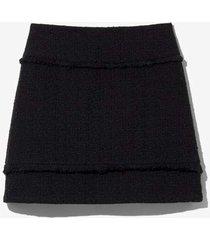 bouclé tweed mini skirt