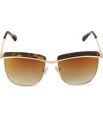 56mm gradient square sunglasses