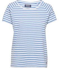 docksides sail tee t-shirts & tops short-sleeved blå sebago