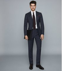 reiss grit - wool blend slim fit blazer in navy, mens, size 46