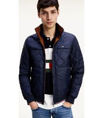 chaqueta reversible onion quilted azul tommy hilfiger