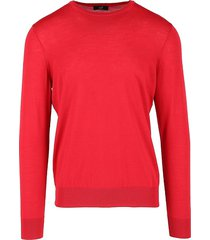 dunhill men's crewneck merino wool sweater - red - size s