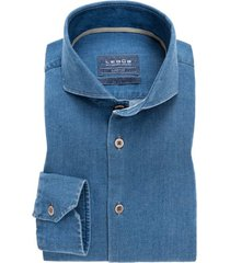 ledub overhemd tailored fit denimblauw