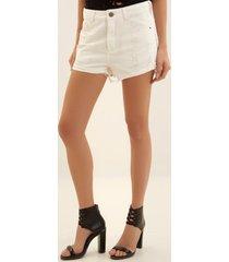 shorts john john boy groelandia sarja branco feminino (branco, 50)
