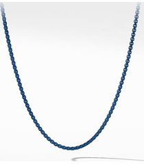 men's david yurman box chain necklace, 4mm