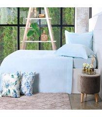 jogo de cama 200 fios casal 100% algodão pentado toque macio requinte - bene casa