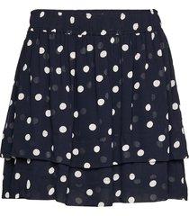 printed georgette kort kjol ganni