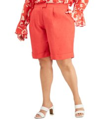 alfani plus size bermuda shorts, created for macy's