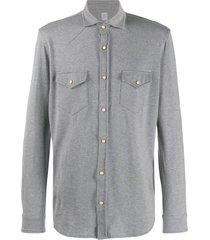 eleventy texas buttoned shirt - grey