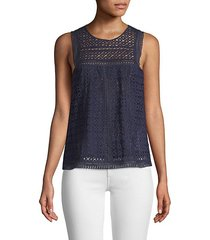 esrel eyelet sleeveless top