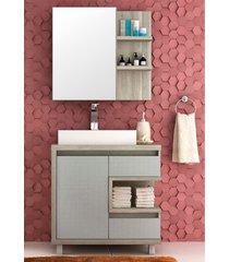 conjunto para banheiro malbec dir barrique/argento bosi - marrom - dafiti