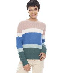 sweater básico rayas palo rosa rayas  corona
