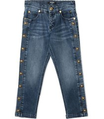 balmain straight jeans