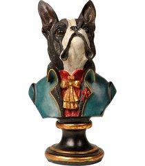 escultura decorativa de resina busto cachorro sirius