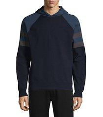 colorblock raglan-sleeve hoodie