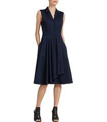 ruffle-skirt shirt dress