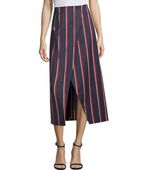 apolline striped midi skirt