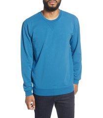 men's goodlife slim micro terry crewneck sweatshirt, size xx-large - blue/green