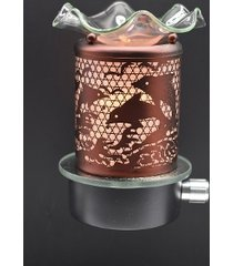 copper dolphin wall plugin oil/tart warmer use with scentsy/yankee candle wax