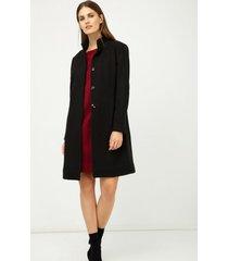 płaszcz z ozdobnym guzikiem czarny