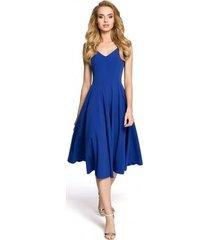 korte jurk moe m201 cocktail mouwloze jurk zonder mouwen - koningsblauw