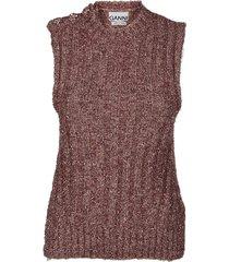 ganni chunky glitter knit gilet