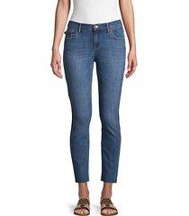 released side stripe cropped jeans