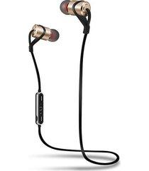 audifonos bluetooth inalámbricos hifi deportivo con micrófono - oro
