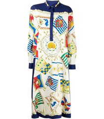 etro scarf-print shirt dress
