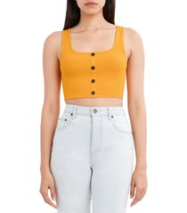 bcbgeneration knit button-front tank top