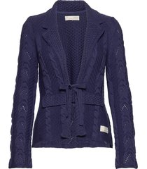 stay grounded blazer gebreide trui cardigan blauw odd molly
