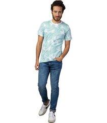 camiseta masculina folhagens branco - branco - masculino - dafiti