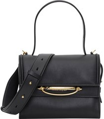 alexander mcqueen the story handbag in leather with shoulder strap
