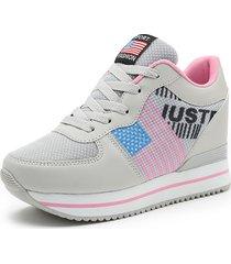 mujer zapatillas deportivas correr senderismo plataforma cuña fondo