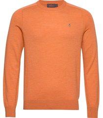 merino ck gebreide trui met ronde kraag oranje morris
