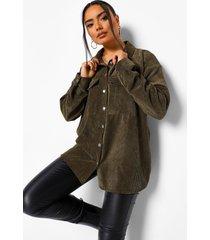 oversized corduroy blouse, khaki