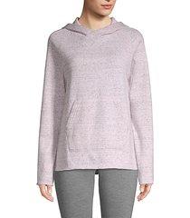 marled raglan-sleeve hoodie