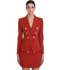 balmain blazer in red viscose