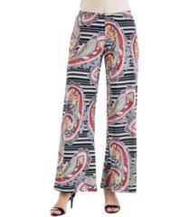 women's paisley and striped palazzo pants