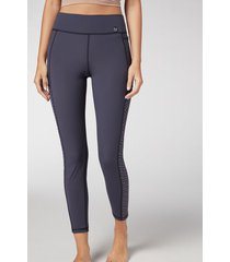 calzedonia soft touch active leggings woman blue size s